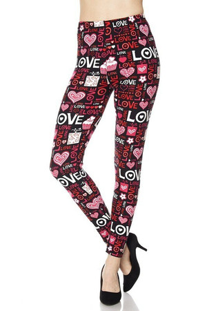 Wholesale Buttery Soft Plus Size Love Leggings