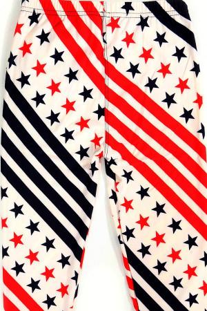 Wholesale Buttery Soft Swirling USA Flag Kids Leggings