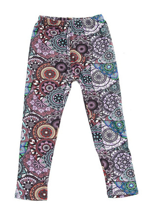 Wholesale Buttery Soft Fashion Mandala Kids Leggings