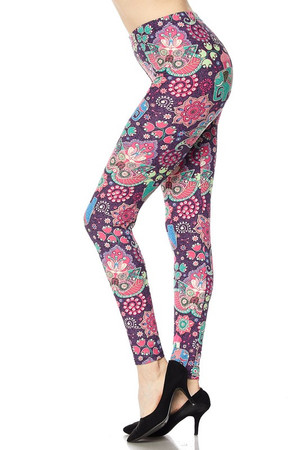 Wholesale Buttery Soft Groovy Candyland Motif Leggings