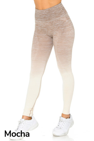 Mocha Wholesale Ombre Fusion Mocha Workout Leggings
