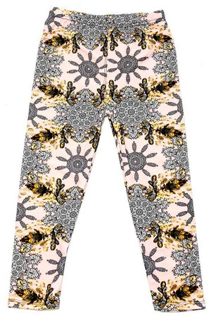 Wholesale Buttery Soft Gorgeous Pink Motif Kids Leggings