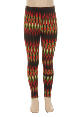 Wholesale Buttery Soft  Teardrop Tribal Kids Leggings