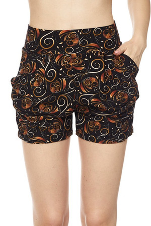 Wholesale Buttery Soft Chic Medallions Harem Shorts