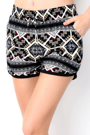 Wholesale Buttery Soft Geometric Tribal Dolphin Shorts