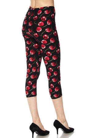 Wholesale Buttery Soft Wild Cherry Capris
