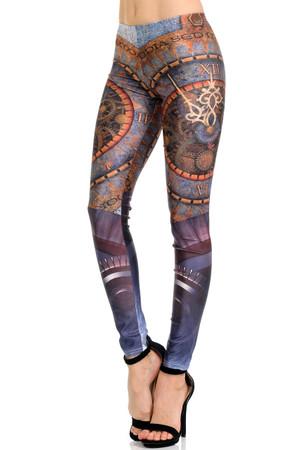 Wholesale Premium Graphic Print Romanus Steampunk Leggings
