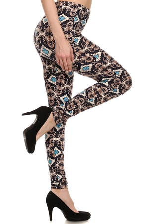 Side Image of PL15BP063 - Wholesale Buttery Soft  Leggings