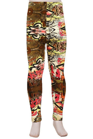 Wholesale Buttery Soft Street Graffiti Kid's Leggings