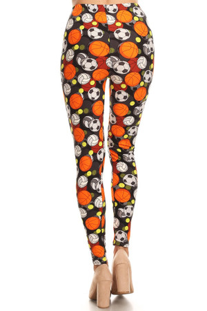 Wholesale Buttery Soft 3D Sports Ball Leggings - LIMTED EDITION