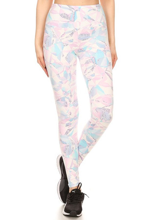 Wholesale Brushed Pastel Kaleidoscope Sport Leggings