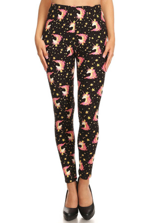 Wholesale Buttery Soft Twinkle Unicorn Plus Size Leggings - 3X-5X - LIMITED EDITION