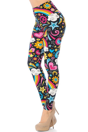 Wholesale Buttery Soft Groovy Hip Retro Leggings