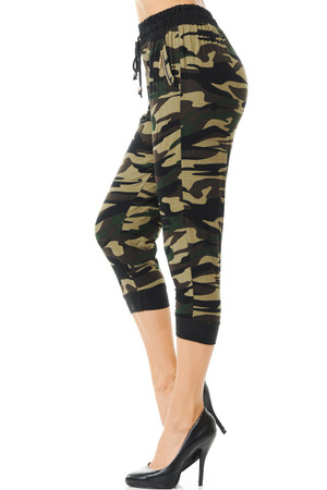 Wholesale Buttery Soft Risky Business Camouflage Capri Joggers