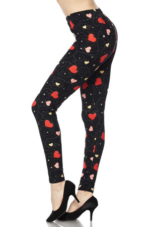 Wholesale Buttery Soft Shape of My Heart Leggings