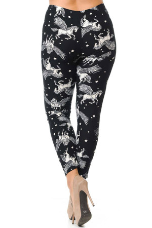 Wholesale Buttery Soft Magical Pegasus Plus Size Leggings - 3X-5X