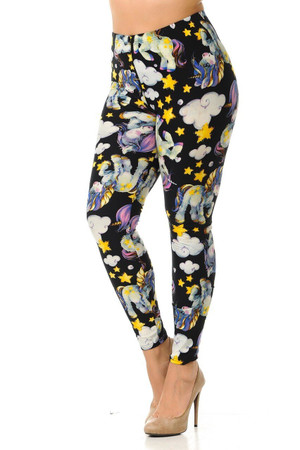 Wholesale Buttery Soft Cutie Pie Baby Unicorn Plus Size Leggings