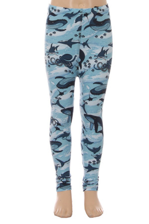 Wholesale Buttery Soft Love the Ocean Kids Leggings