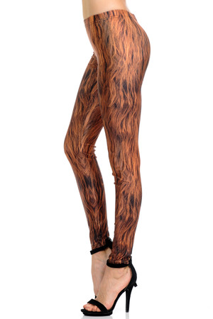 Wholesale Premium Graphic Hairy Leg Wookie Leggings