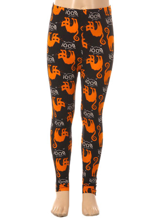 Wholesale Buttery Soft Halloween Kitty Cat Leggings