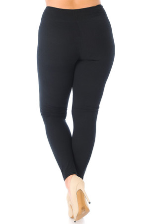Wholesale Buttery Soft Basic Solid High Waisted Plus Size Leggings - 3 Inch - New Mix