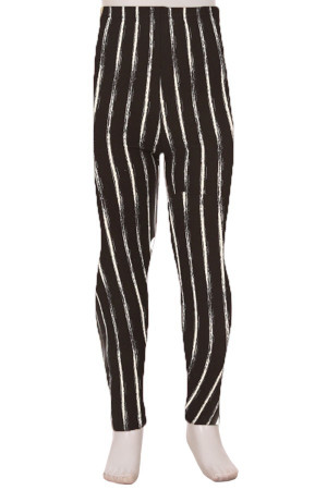 Wholesale Buttery Soft Rustic Pinstripe Kids Leggings