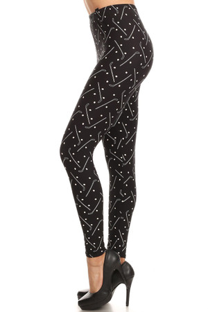 Wholesale Buttery Soft Hockey Plus Size Leggings - 3X-5X