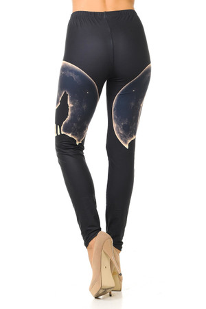 Wholesale Creamy Soft Howl at the Moon Wolf Leggings