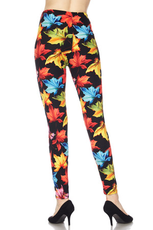 Wholesale Buttery Soft Autumn Leaves Leggings