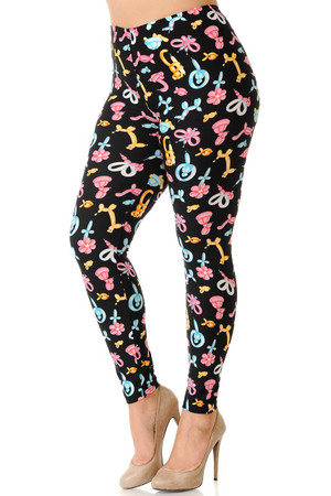 Wholesale Buttery Soft  Animal Balloon Plus Size Leggings
