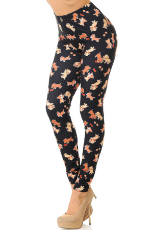Wholesale Creamy Soft Playful Puppy Dogs Leggings