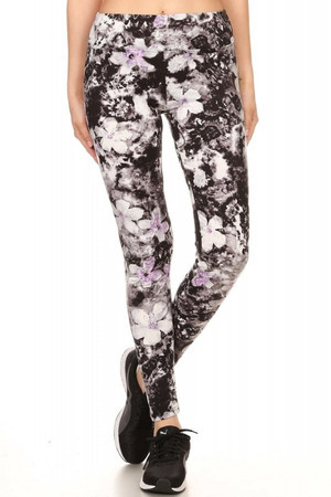 Wholesale Brushed High Waisted Melodic Floral Leggings