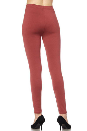 Wholesale Fleece Lined Solid Plus Size Leggings