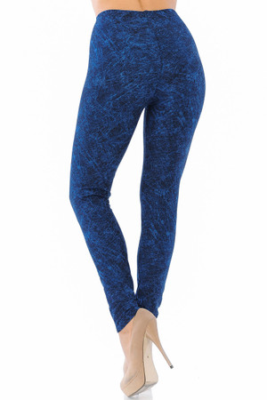 Wholesale Buttery Soft Distressed Blue Leggings
