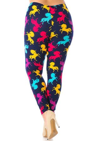 Wholesale Buttery Soft Colorful Unicorns Plus Size Leggings