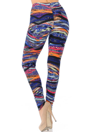 Wholesale Buttery Soft Colorful Bands Leggings