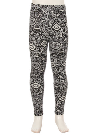 Wholesale Buttery Soft Ornate Paisley Kids Leggings
