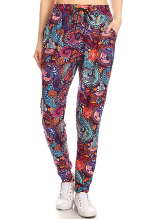 Wholesale Buttery Soft Candyland Paisley Joggers