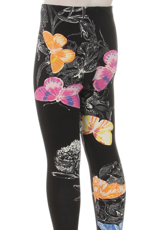 Wholesale Buttery Soft Beautiful Butterfly Kids Leggings