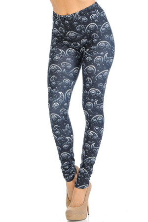 Wholesale Creamy Soft Fading Paisley Leggings - Signature Collection