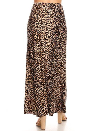 Wholesale Buttery Soft Feral Cheetah Maxi Skirt