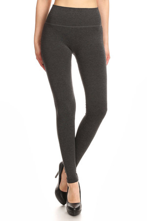 Charcoal Wholesale Premium High Waisted Basic Leggings
