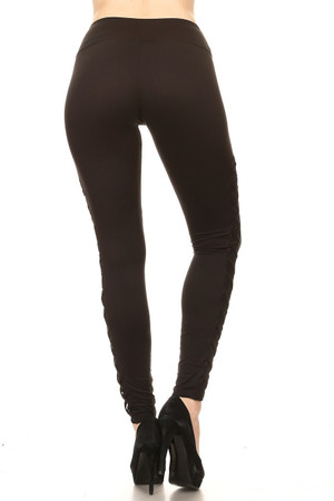 Wholesale Women's Crisscross Mesh Workout Leggings
