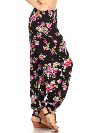 Wholesale Spring Floral Harem Leggings