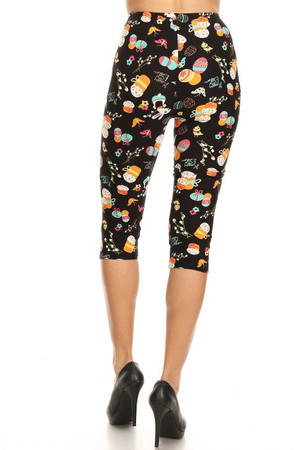 Wholesale Buttery Soft Easter Extravaganza Plus Size  Capris