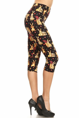 Wholesale Buttery Soft Bunny Rabbit Plus Size Capris