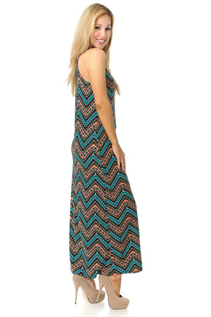 Wholesale Buttery Soft Summer Chevron Maxi Dress