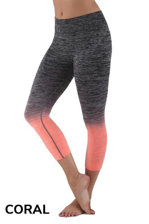 Wholesale Ombre Fusion Workout Plus Size Capris