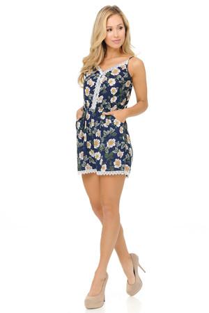 Wholesale Fashion Casual Daisy Blossom Romper