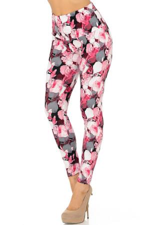 Wholesale Buttery Soft Lavish Raspberry Rose High Waist Leggings